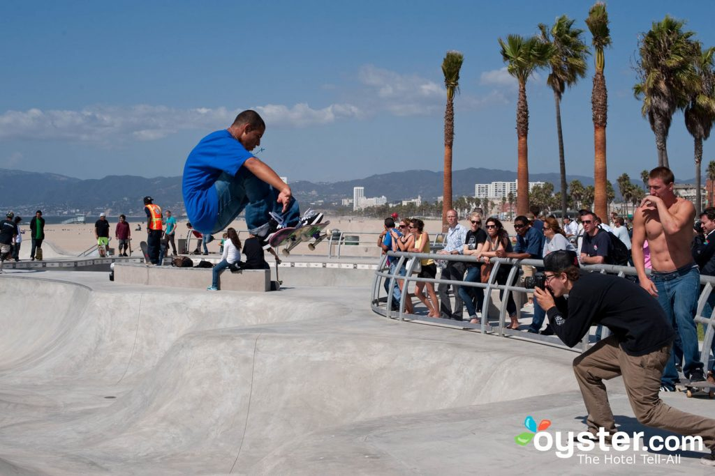 Need some outdoor exercise while you're in LA? Grab a healthy breakfast and your skateboard.