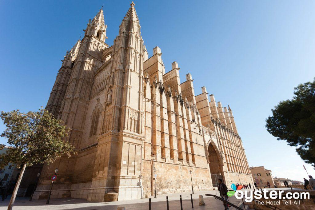 Palma de Mallorca's pretty Gothic cathedral.