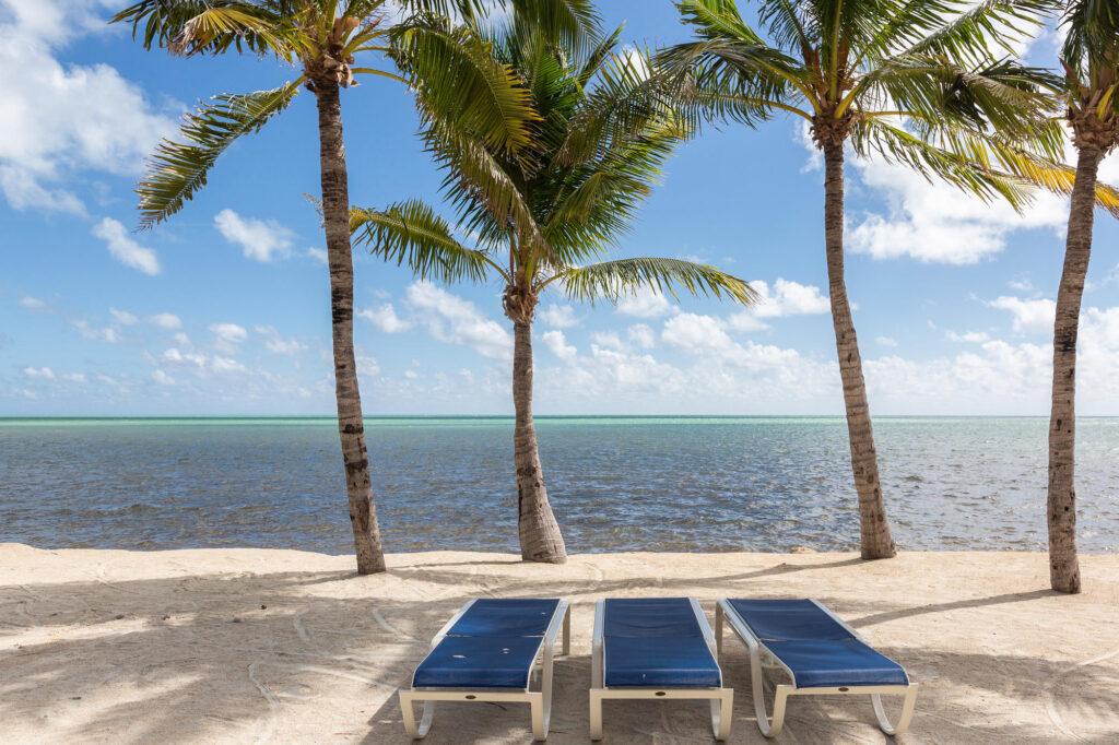 Lounge Chairs on the Beach on Islamorada Key