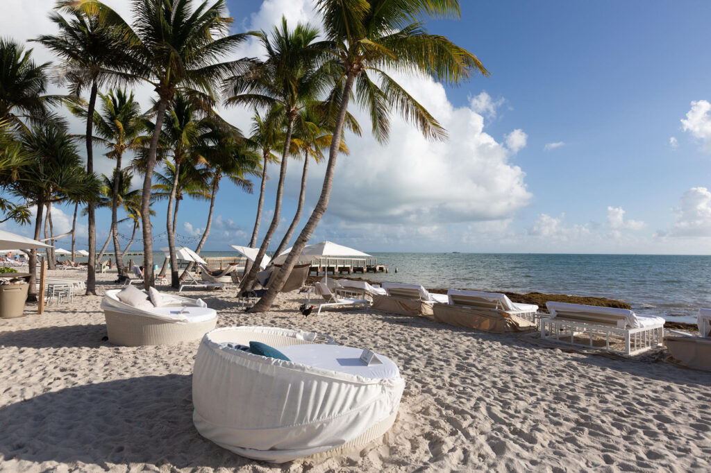 Lounge Chairs on the Beach at the Waldorf Astoria Resort