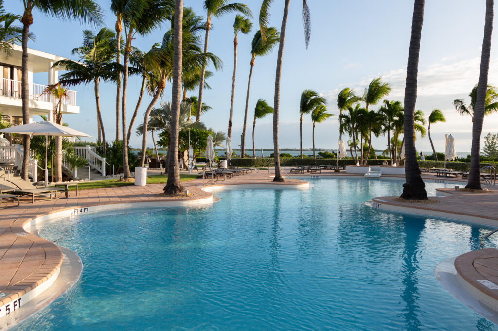 Pool and Palm Trees at the Hawks Cay Resort