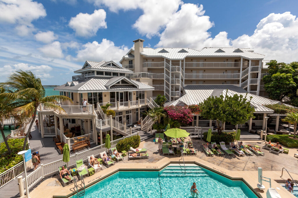Pool and Hotel Exterior at Hyatt Centric Key West Resort and Spa