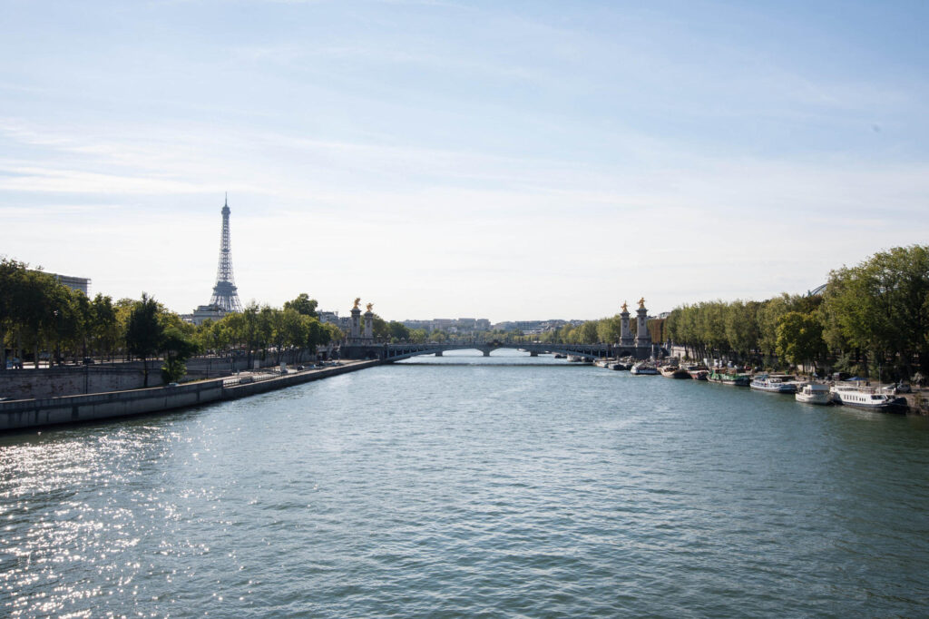 View of the 8th Arrondissement and Eiffel tower