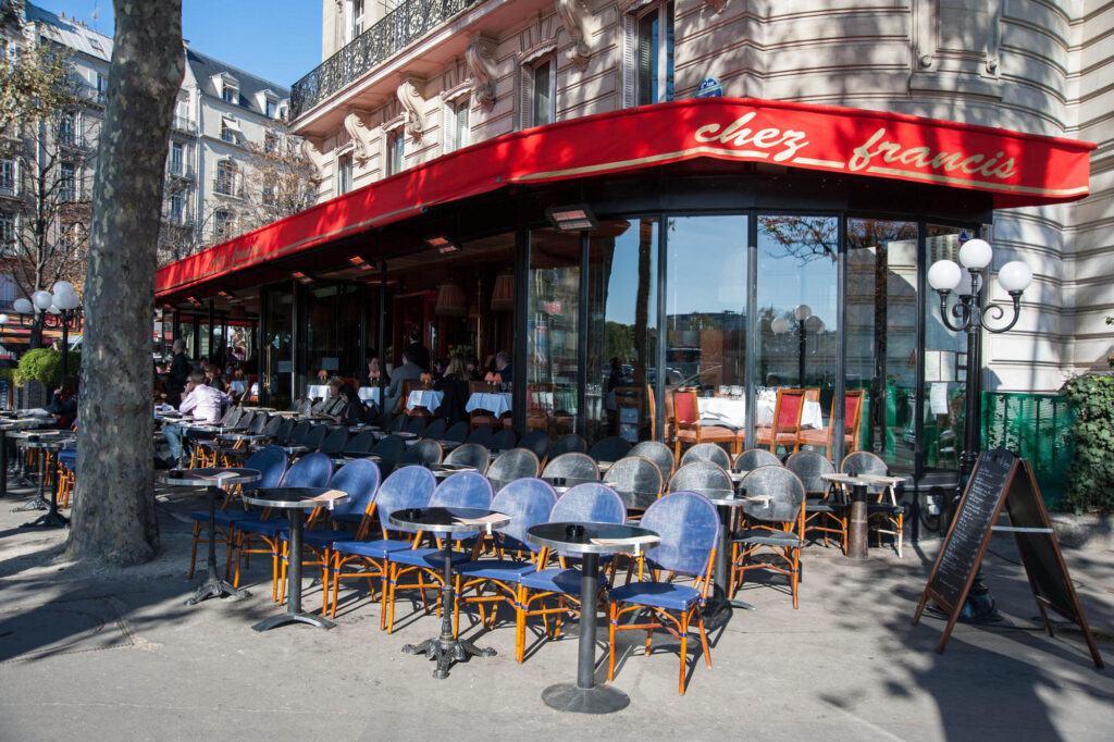 Cafe Along the Champs-Elysees in Paris