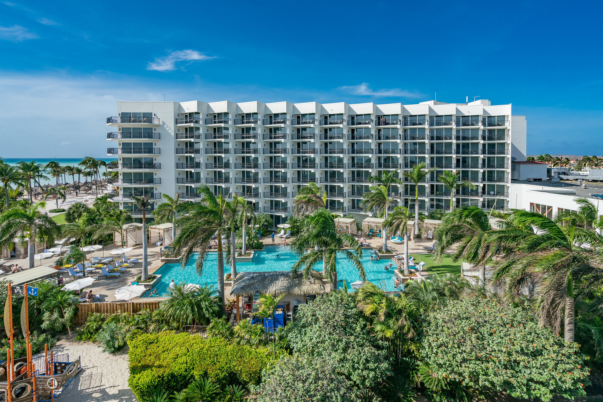 The grounds at the Aruba Marriott Resort and Stellaris Casino