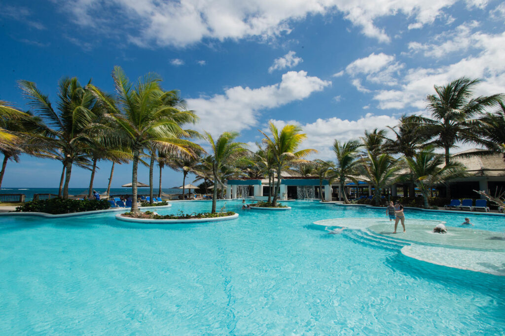 Splash Pool With Lazy River at Coconut Bay Beach & Spa Resort