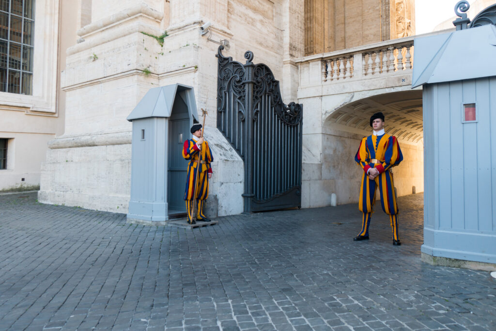 Guards at the Vatican