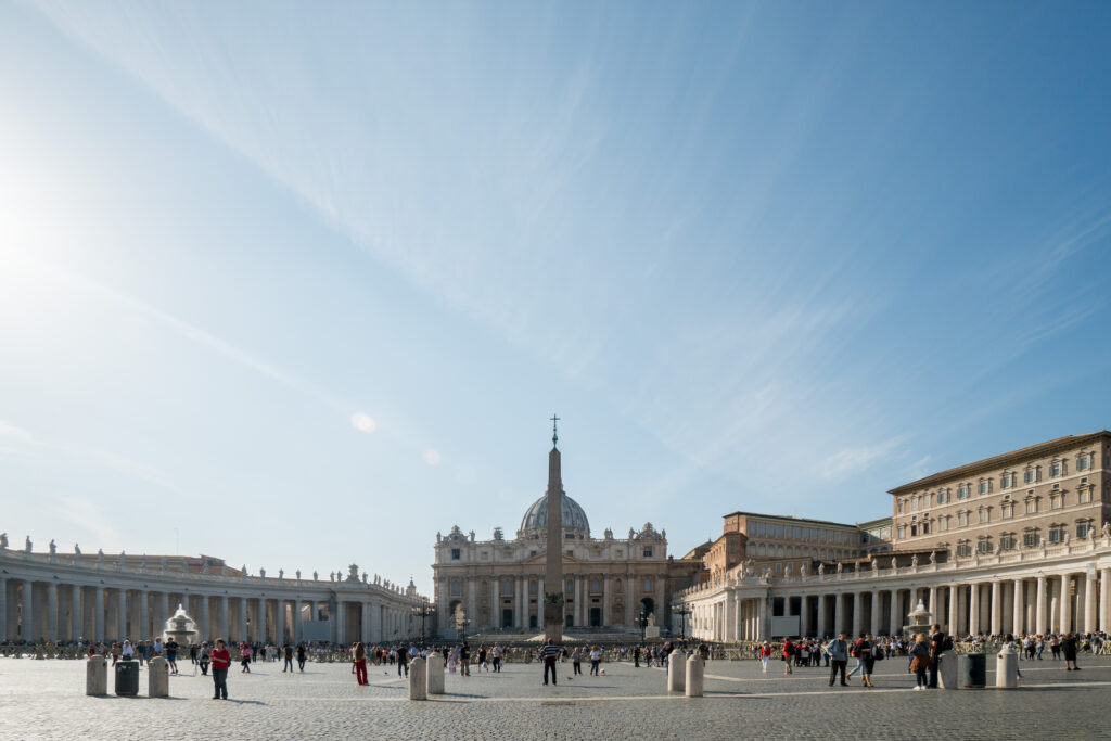 Outside at the the Vatican CIty