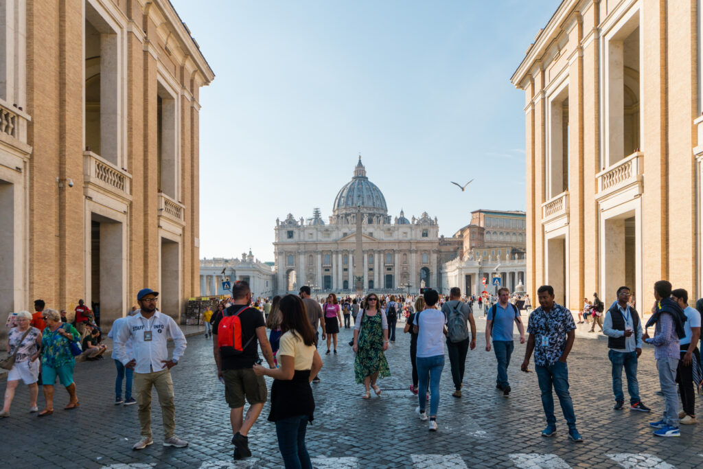 Outside at the Vatican City