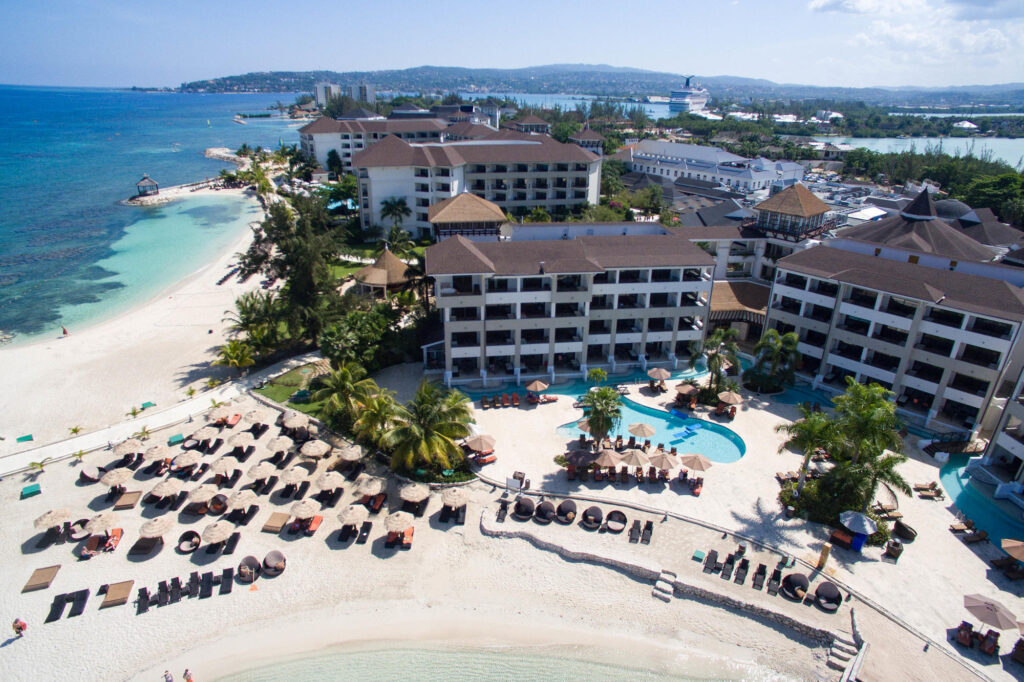Secrets Wild Orchid Montego Bay Jamaica aerial view