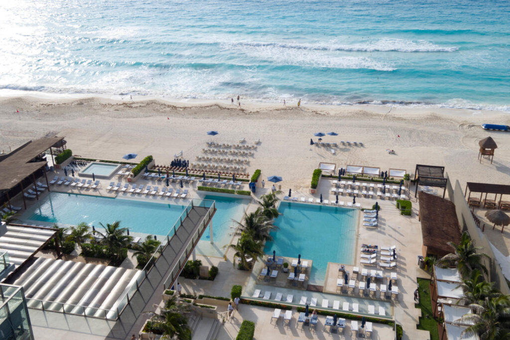 Pool and Beach at Secrets The Vine Cancun