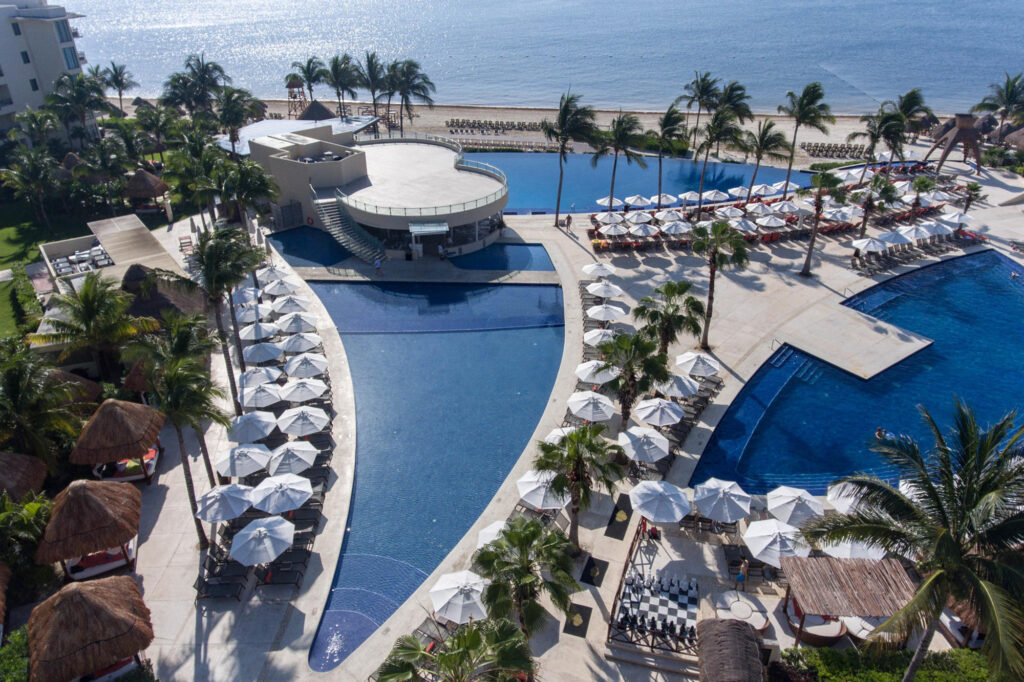 Aerial View of the Dreams Riviera Cancun Resort & Spa