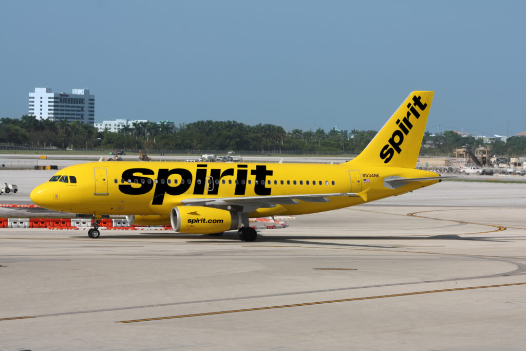 Yellow Spirit Airplane on the Runway