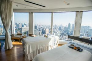 View from Andaz Tokyo Toranomon Hills spa, Tokyo, Japan.