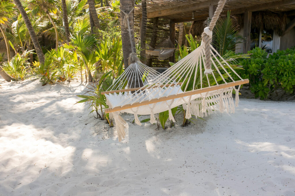 Beach and Hammock at the Nomade Tulum