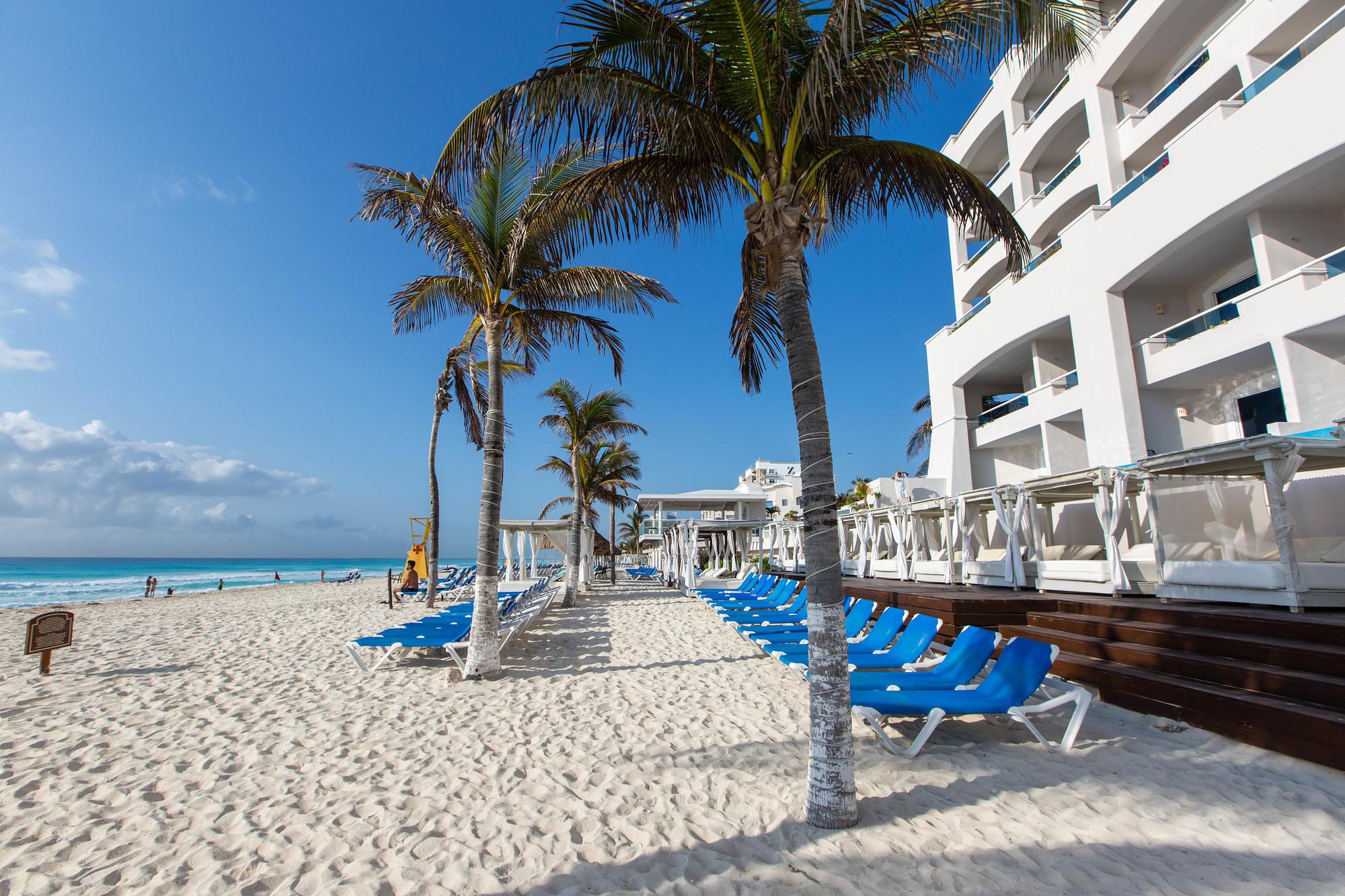 The beach at Panama Jack Resorts Cancun