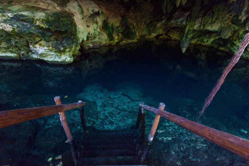 Cenote at the Akumal Natura Glamping