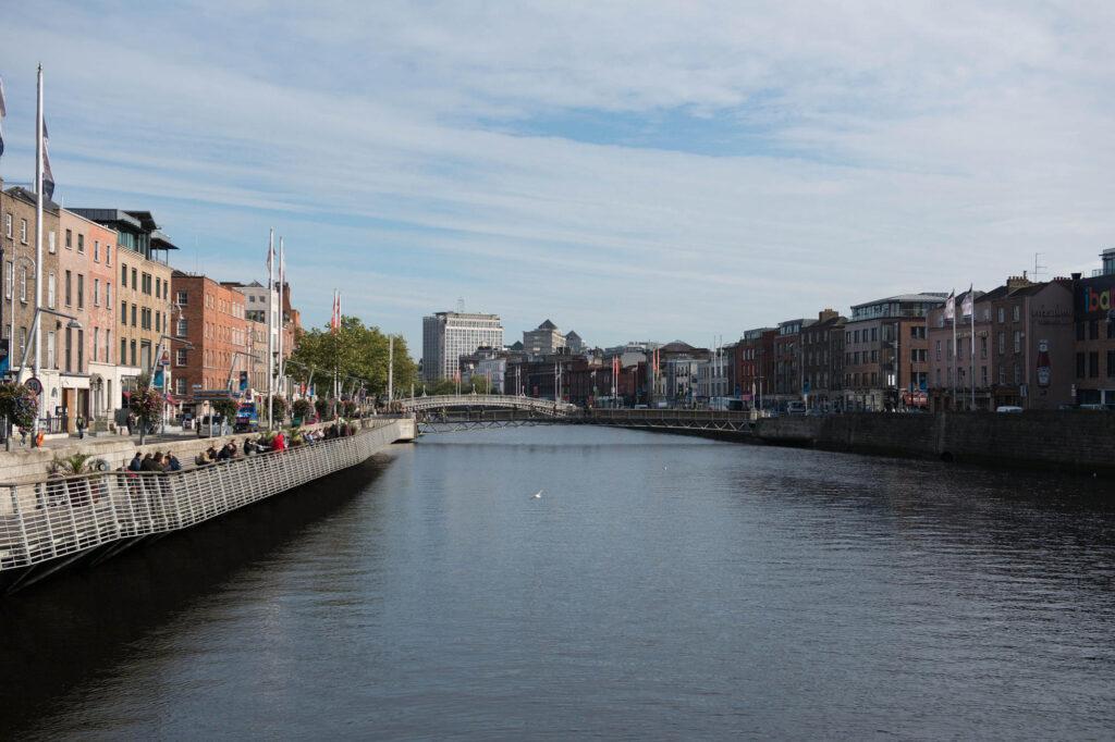Vista sulla città di Dublino