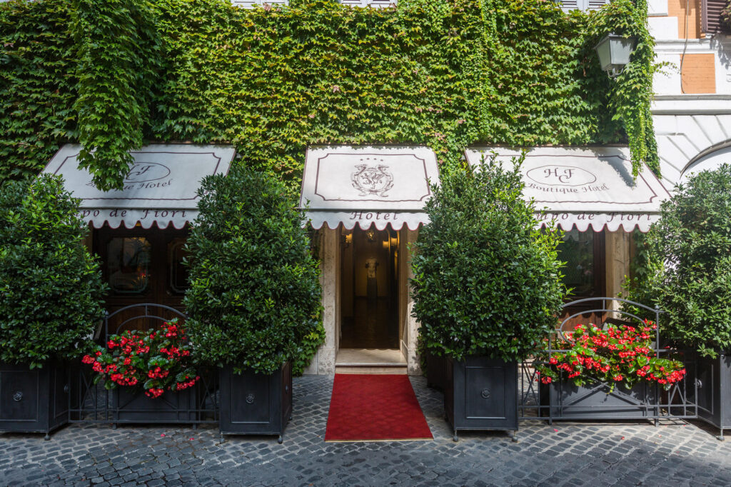 Entrance at the Boutique Hotel Campo de Fiori