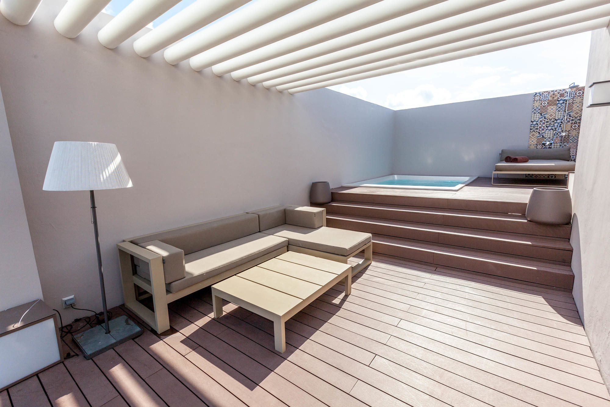 The private rooftop pool in the Two-Story Rooftop Terrace Suite at the Excellence El Carmen, Punta Cana