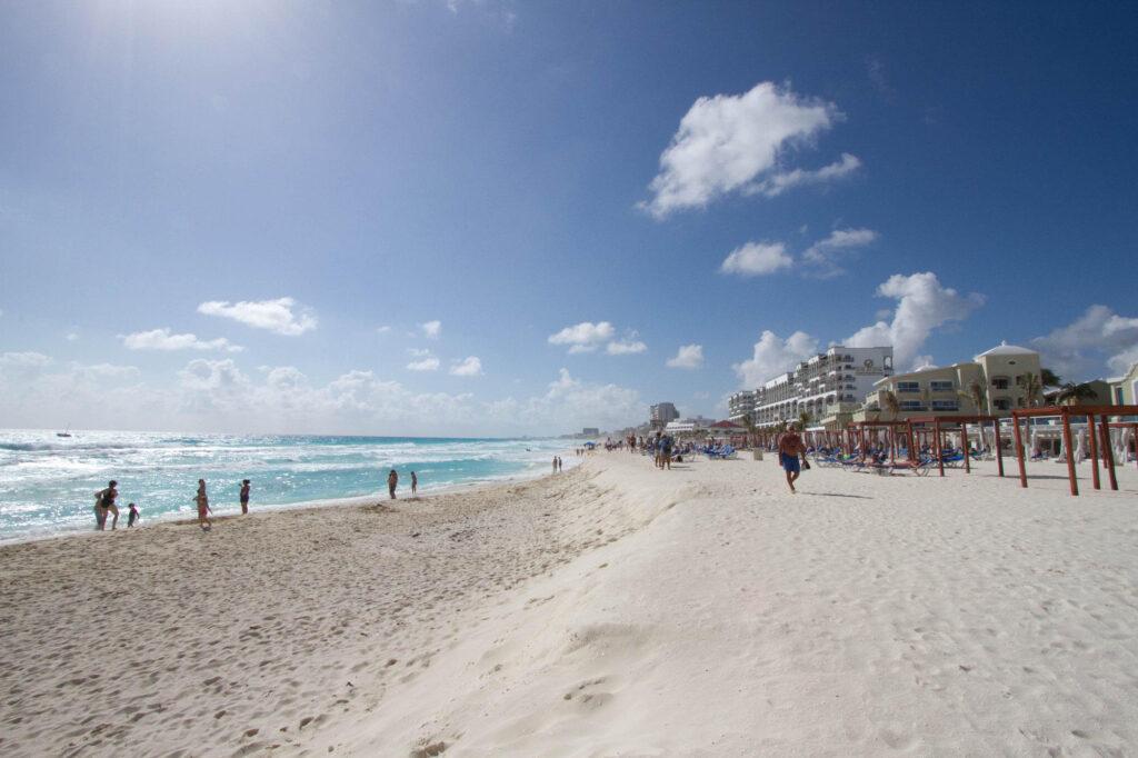 Beach at the Gran Caribe Real Cancun