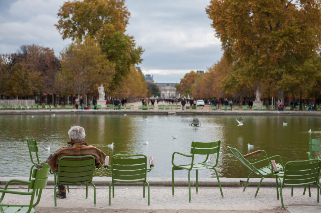 The Tuileries Garden in Paris