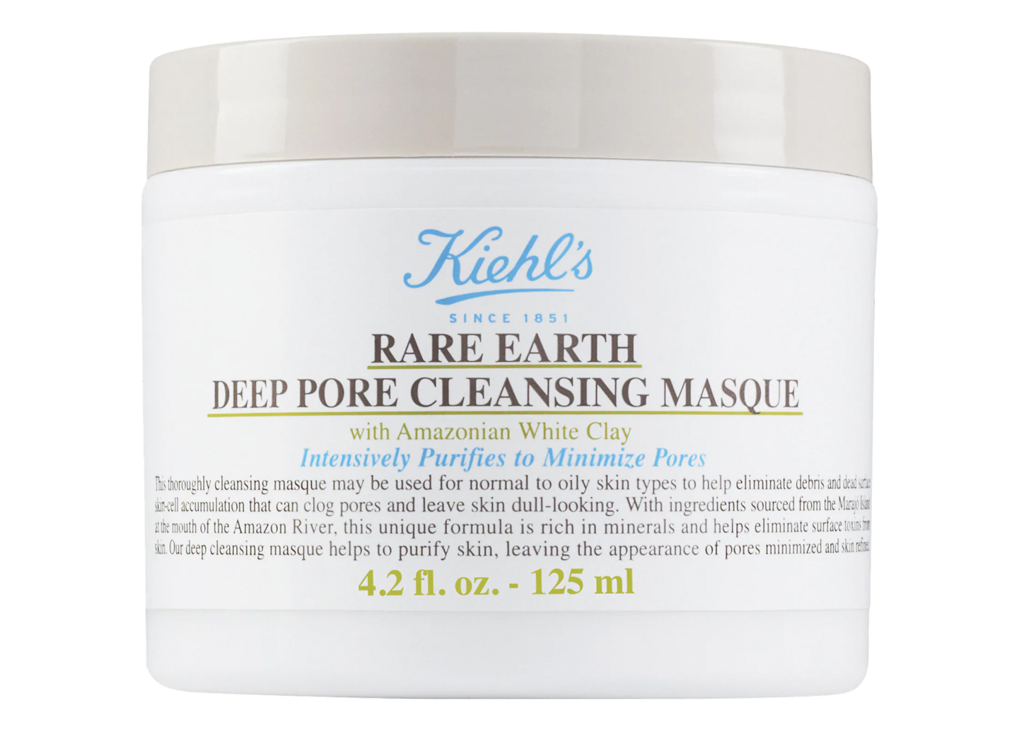 Rare Earth Deep Pore Cleansing Masque by Kiehl's Since 1851