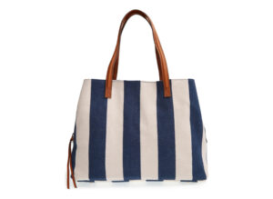 'Oversize Millie' Stripe Print Tote by Sole Society