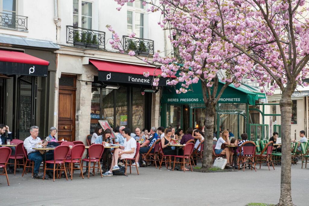 Cafe in the Latin Quarter in Paris