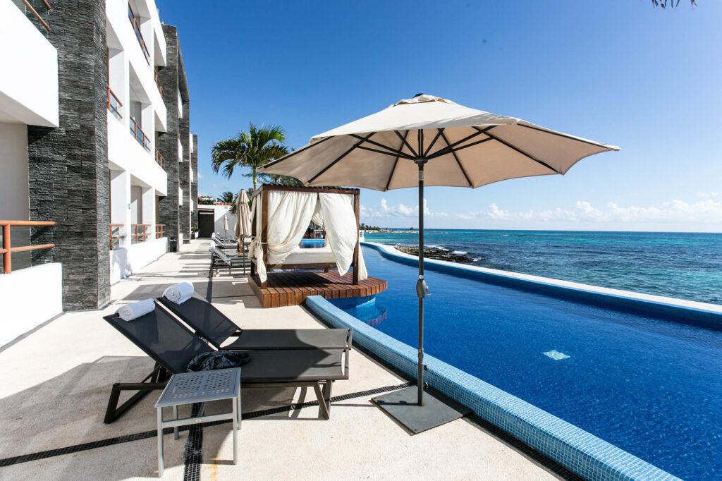 Oceanfront Pool at Senses Riviera Maya by Artisan