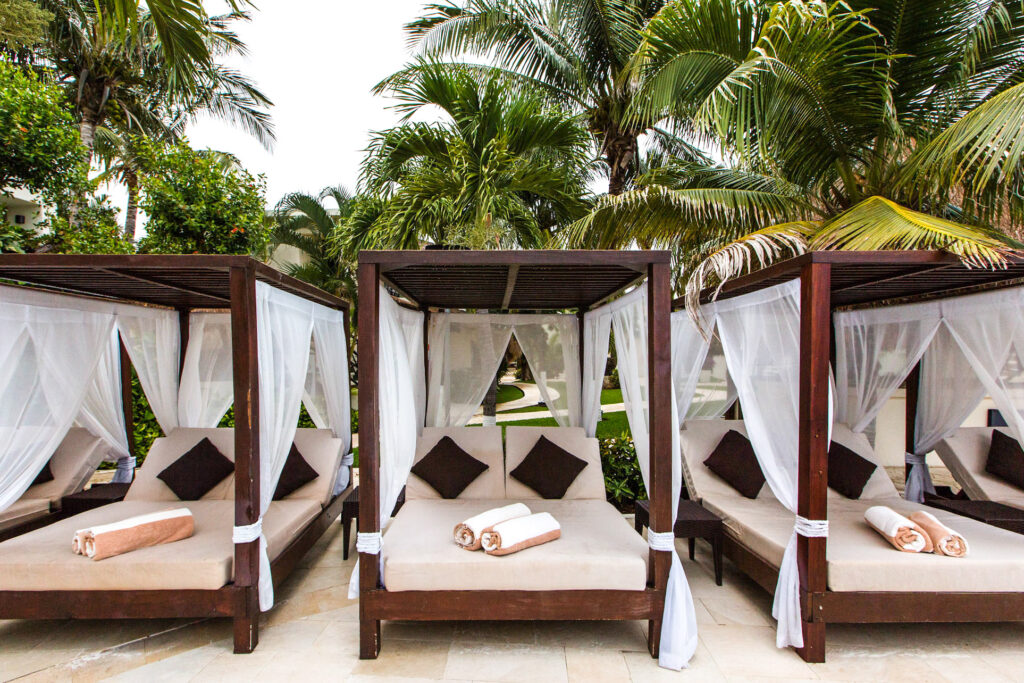 Pool Lounge Chairs at the Desire Riviera Maya Resort