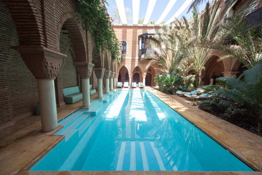A piscina no La Sultana Marrakech