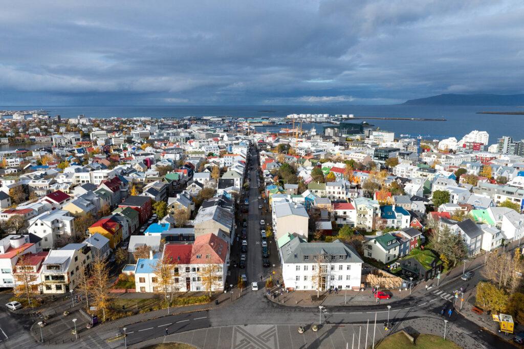 Vista di Reykjavik, Islanda
