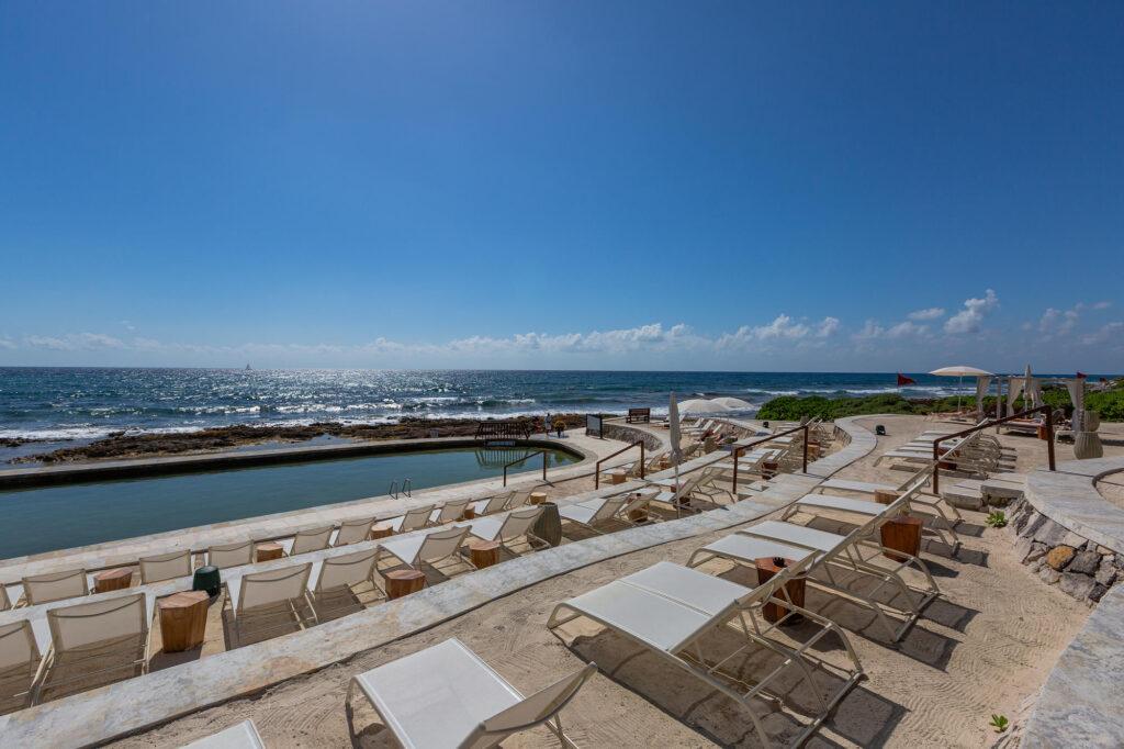 Oceanfront Pool at TRS Yucatan Hotel