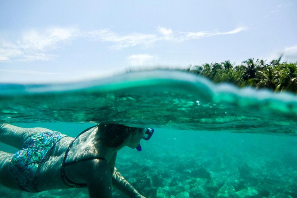 Snorkeling at the Angsana Ihuru