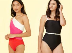two girls posing and wearing Summersalt Swimwear