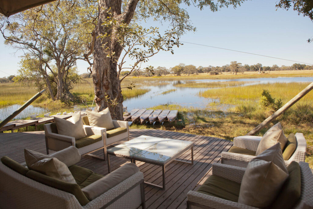 Common Area at the andBeyond Xaranna Okavango Delta Camp
