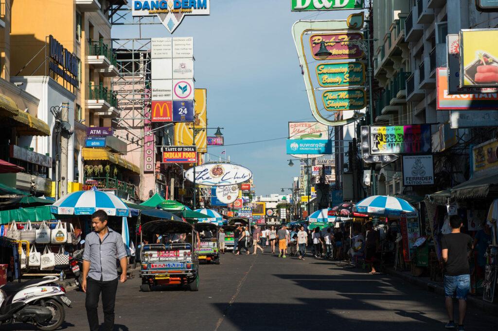 Tourists on Khao San in Bangkok
