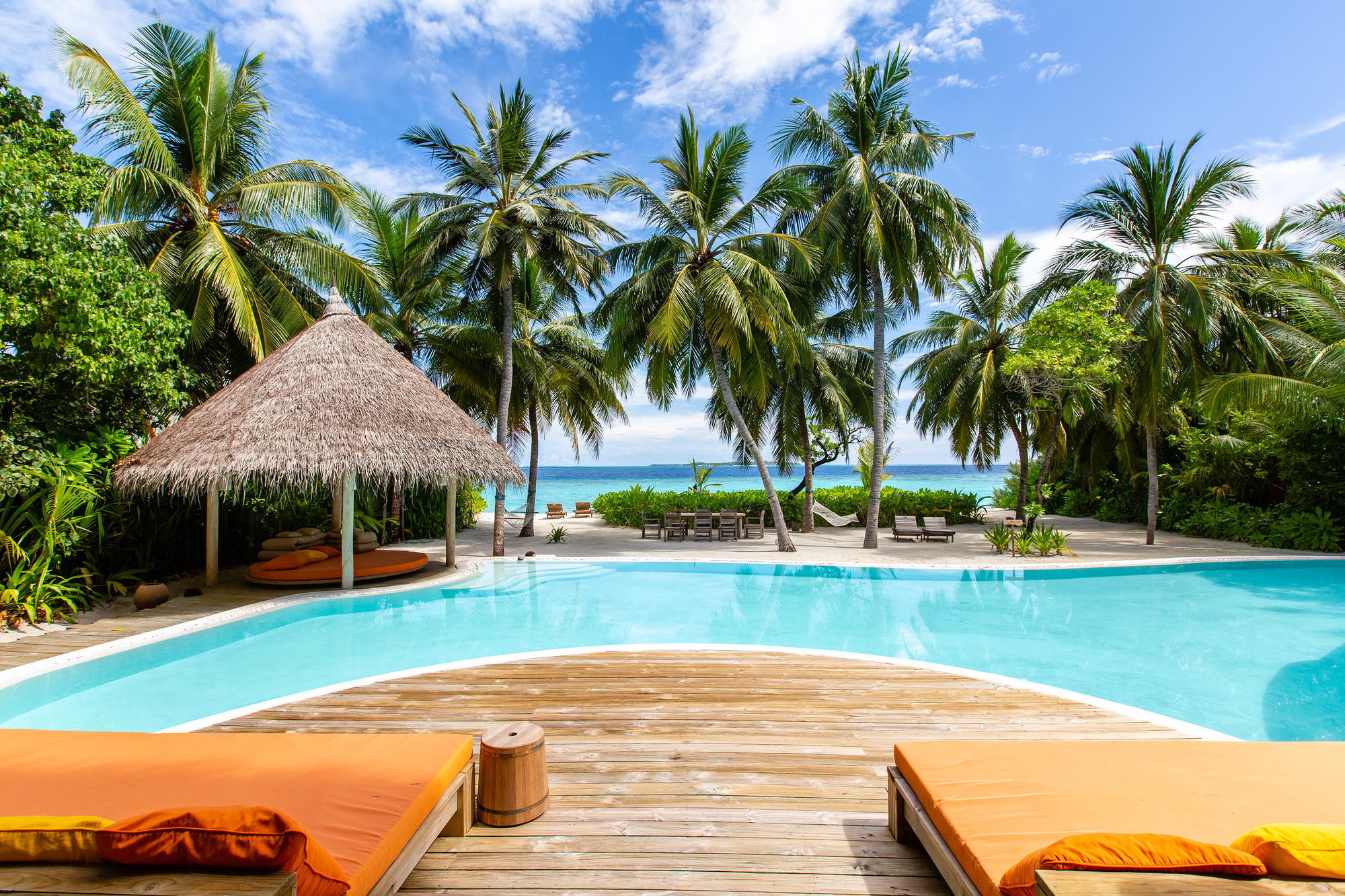 The view from Villa 15 at Soneva Fushi in The Maldives