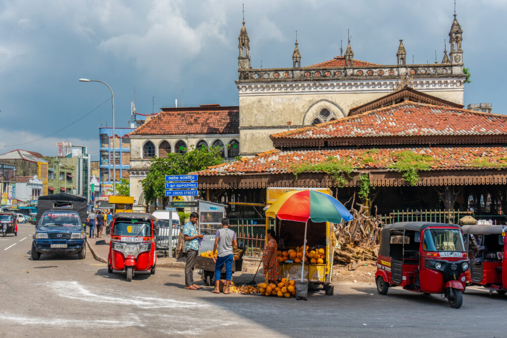 City scene in Sri Lanka