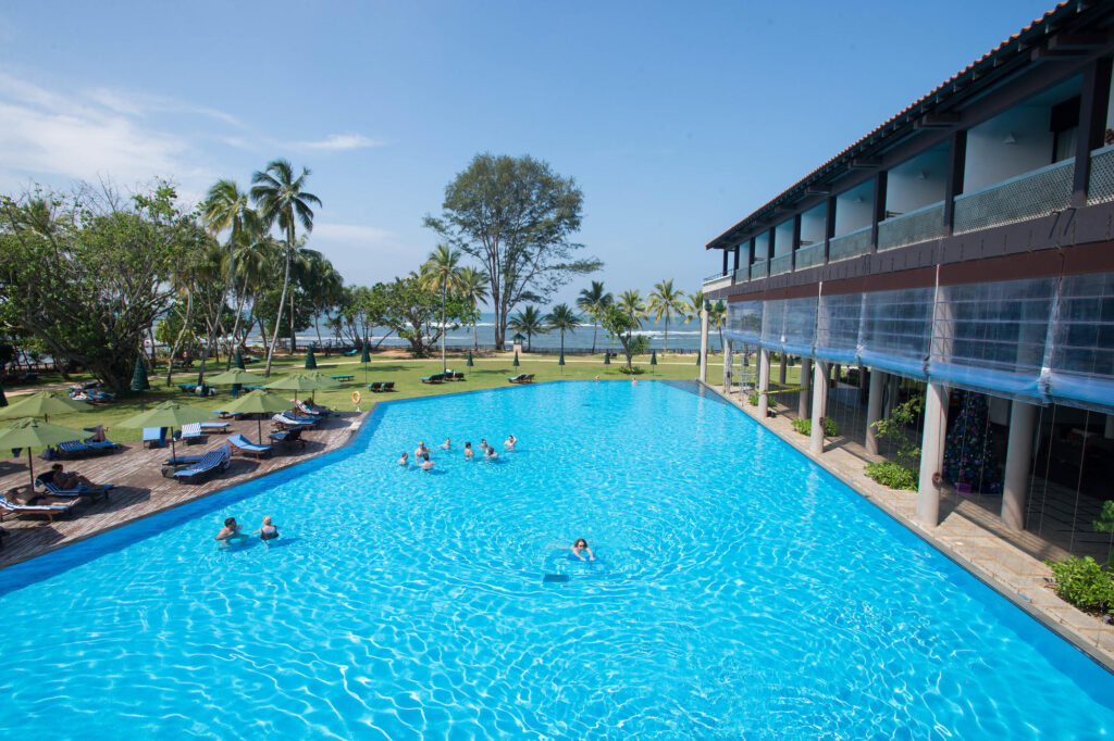 The Infinity Pool at the Cinnamon Bey Beruwala Sri Lanka