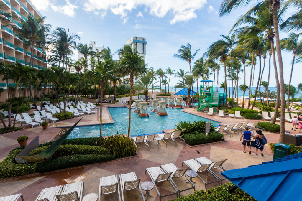 The Pool at the San Juan Marriott Resort & Stellaris Casino Puerto Rico