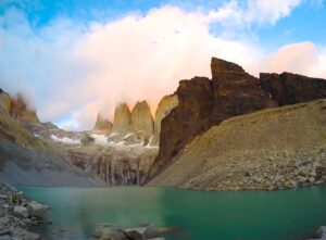 Torres del Paine, Chile at sunrise