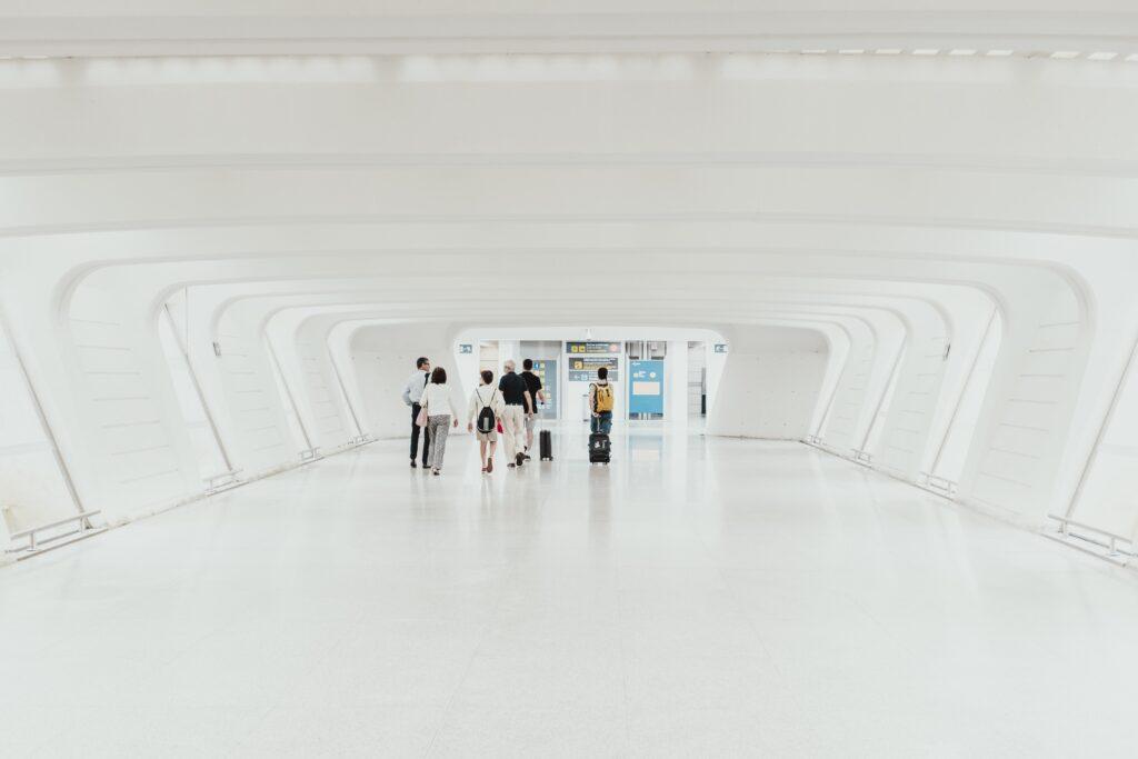 Airport walkway in Spain