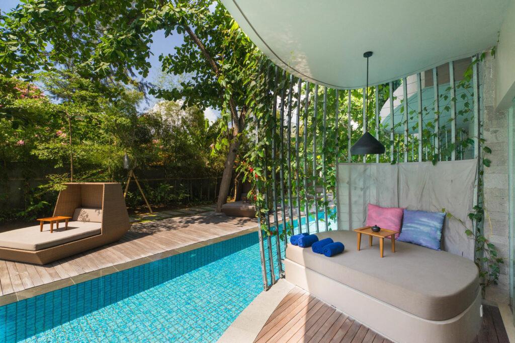 The Deluxe Lagoon Access Room at the Maya Sanur Resort & Spa