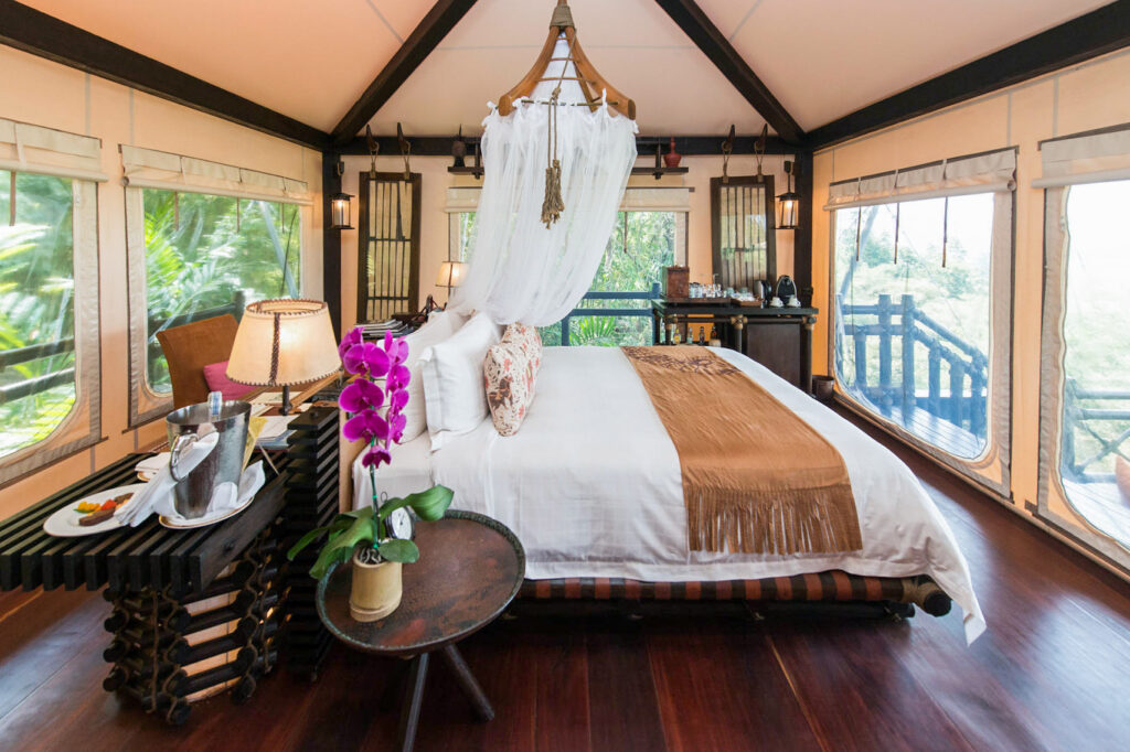 The Deluxe Luxury Tent at the Four Seasons Tented Camp Golden Triangle