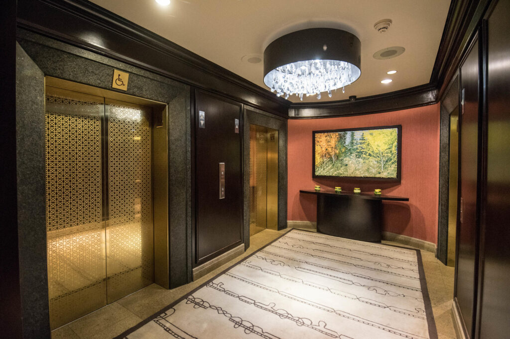 Elevators at the InterContinental Montreal