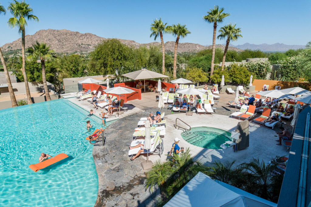 Pool and view at the Sanctuary Camelback Mountain