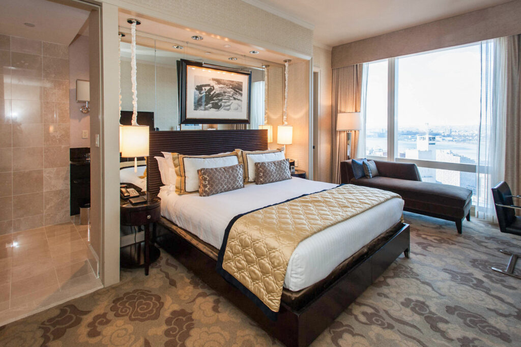 The Hudson River View Room at the Mandarin Oriental, New York