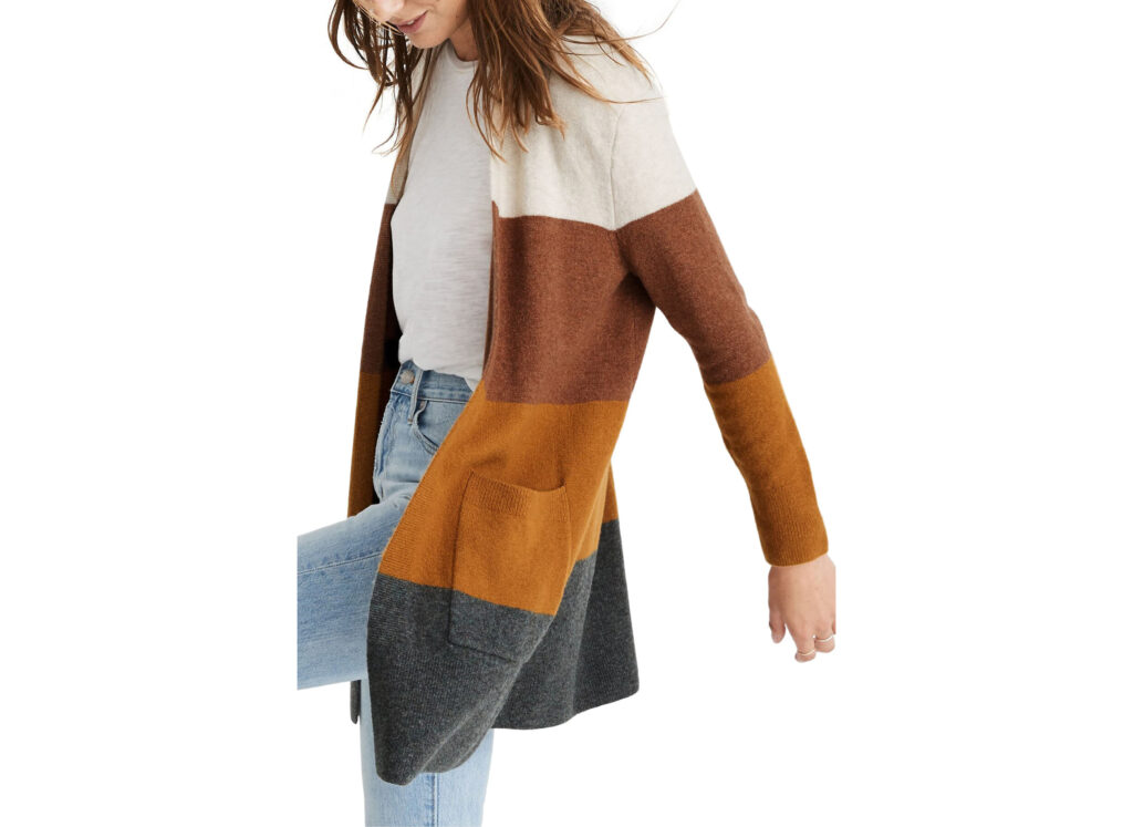 Kent Colorblock Long Cardigan from Madewell